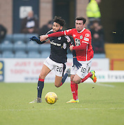 Dundee&rsquo;s Faissal El Bakhtaoui and St Mirren&rsquo;s Stevie Mallan - Dundee v St Mirren in the William Hill Scottish Cup at Dens Park, Dundee. Photo: David Young<br /> <br />  - &copy; David Young - www.davidyoungphoto.co.uk - email: davidyoungphoto@gmail.com