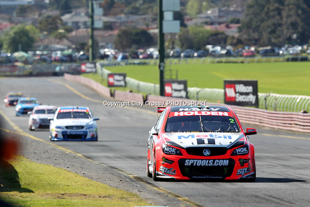 Garth Tander & Warren Luff (Holden Racing Team). 2015 Wilson Security Sandown 500. V8 Supercars Championship Round 9. Sandown International Raceway, Victoria. Sunday 13 September 2015. Photo: Clay Cross / photosport.nz