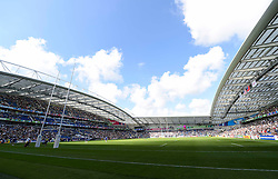 A general view of the Brighton Community Stadium prior to the match - Mandatory byline: Patrick Khachfe/JMP - 07966 386802 - 20/09/2015 - RUGBY UNION - Brighton Community Stadium - Brighton, England - Samoa v USA - Rugby World Cup 2015 Pool B.