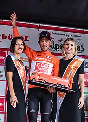 12.07.2019, Kitzbühel, AUT, Ö-Tour, Österreich Radrundfahrt, Siegerehrung der 6. Etappe, von Kitzbühel nach Kitzbüheler Horn (116,7 km), im Bild bester Österreicher Riccardo Zoidl (CCC Team, AUT) // bester Österreicher Riccardo Zoidl (CCC Team, AUT) during the winner ceremony of the 6th stage from Kitzbühel to Kitzbüheler Horn (116,7 km) of the 2019 Tour of Austria. Kitzbühel, Austria on 2019/07/12. EXPA Pictures © 2019, PhotoCredit: EXPA/ JFK