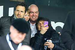 Chelsea manager Antonio Conte takes a selfie with fans at craven cottage - Mandatory by-line: Jason Brown/JMP - 19/02/2017 - FOOTBALL - Craven Cottage - Fulham, England - Fulham v Tottenham Hotspur - Emirates FA Cup fifth round