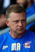 Scunthorpe manager Mark Robins during the Sky Bet League 1 match between Burton Albion and Scunthorpe United at the Pirelli Stadium, Burton upon Trent, England on 8 August 2015. Photo by Aaron Lupton.