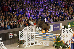 Van der Vleuten Maikel, (NED), Kisby ontvangt de trofee Paardenman van het Jaar postuum voor Gerrit Jan Swinkels<br /> Indoor Brabant - 's Hertogenbosch 2016<br /> © Hippo Foto - Dirk Caremans<br /> 12/03/16