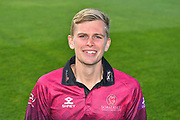 Head shot of Ollie Sale in the Royal London One-Day Cup kit during the 2019 media day at Somerset County Cricket Club at the Cooper Associates County Ground, Taunton, United Kingdom on 2 April 2019