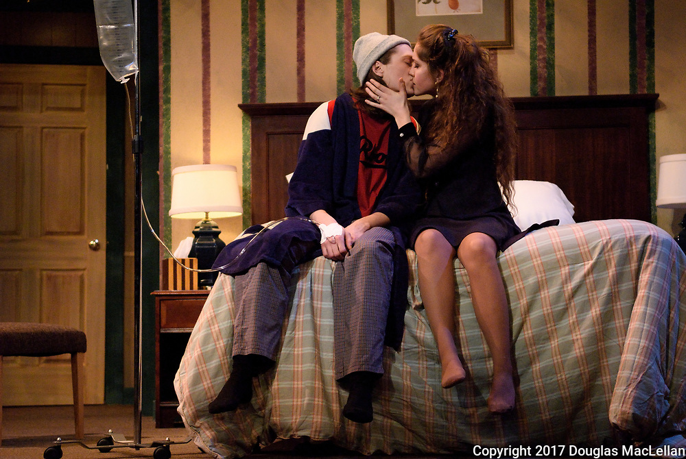 """CANADA, Windsor. March 2017. """"Bedtime Stories"""" by Norm Foster. Directed by Gordon McCall. A University Players production."""