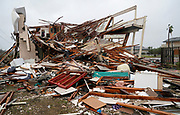 A condominium complex is reduced to rubble after Hurricane Harvey struck Rockport, Texas August 26, 2017. REUTERS/Rick Wilking