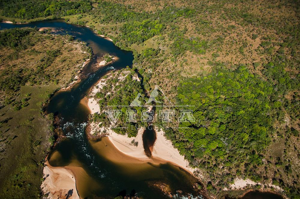 Vista aerea do Rio Novo, Parque Estadual do Jalapão, Tocantins, Brasil, foto de Ze Paiva, Vista Imagens.