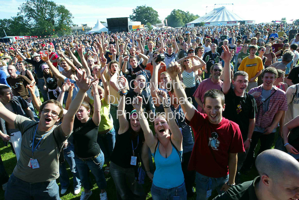 The crowd pictured at the ElectricPicnic in Stradbally Yesterday...Picture Dylan Vaughan