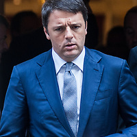 Foto Piero Cruciatti / LaPresse<br /> 02-10-2014 Londra, Gran Bretagna<br /> Politica<br /> Il presidente del Consiglio Matteo Renzi incontra David Cameron a Downing Street<br /> Nella foto: Matteo Renzi<br /> <br /> Photo Piero Cruciatti / LaPresse<br /> 02-10-2014 London, United Kingdom<br /> Politics<br /> Italian PM Matteo Renzi meets British PM David Cameron in Downing Street<br /> In the photo: Matteo Renzi