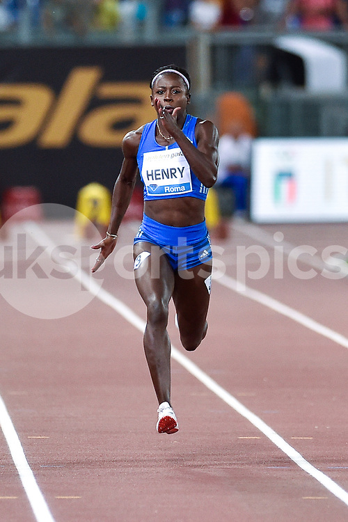 Desiree Henry of Great Britain competes in the Women's 100 m during the IAAF Diamond League Golden Gala Pietro Mennea at Stadio Olimpico, Rome, Italy on 8 June 2017. Photo by Giuseppe Maffia.