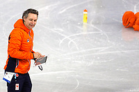 GANGNEUNG , 06-02-2018 , training shorttrackers op de trainingsbaan , Yeongdang Short Track Training Venue  ,  Jeroen Otter<br /> <br /> foto: Henk Jan Dijks