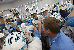 08 March 2008: North Carolina Tar Heels men's lacrosse pregame before playing the Notre Dame Fighting Irish in Chapel Hill, NC.