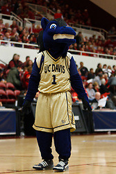 March 19, 2011; Stanford, CA, USA; The UC Davis Aggies mascot performs during the first half of the first round of the 2011 NCAA women's basketball tournament against the Stanford Cardinal at Maples Pavilion. Stanford defeated UC Davis 86-59.