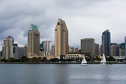 Cloudy Downtown San Diego Skyline