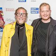 NLD/Amsterdam/20160929 - VIP opening 90 Jaar Marilyn, Bastiaan van Schaik en partner Ramon Heinhuis