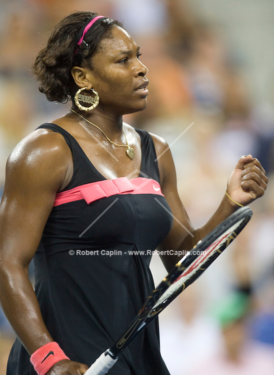 Serena Williams during the first round of the 2007 US Open against Angelique Kerber. Aug. 27, 2007.