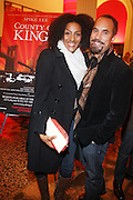 l to r: Sarah Jones and Roger Guenveur Smith at The Opening for Spike Lee's theater production of  ' County of Kings' held at The Publc Theater on October  12, 2009