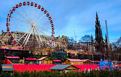 The 'big wheel' in Edinburgh's East Princes Street Gardens is a major attraction in 'Edinburgh's Christmas'.<br /> <br /> (c) Andrew Wilson   Edinburgh Elite media