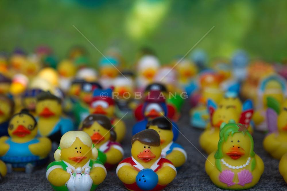 variety of rubber ducks