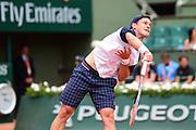 Diego Schwartzman (USA) during the preliminary rounds of the Roland Garros Tennis Open 2017 at Roland Garros Stadium, Paris, France on 2 June 2017. Photo by Jon Bromley.