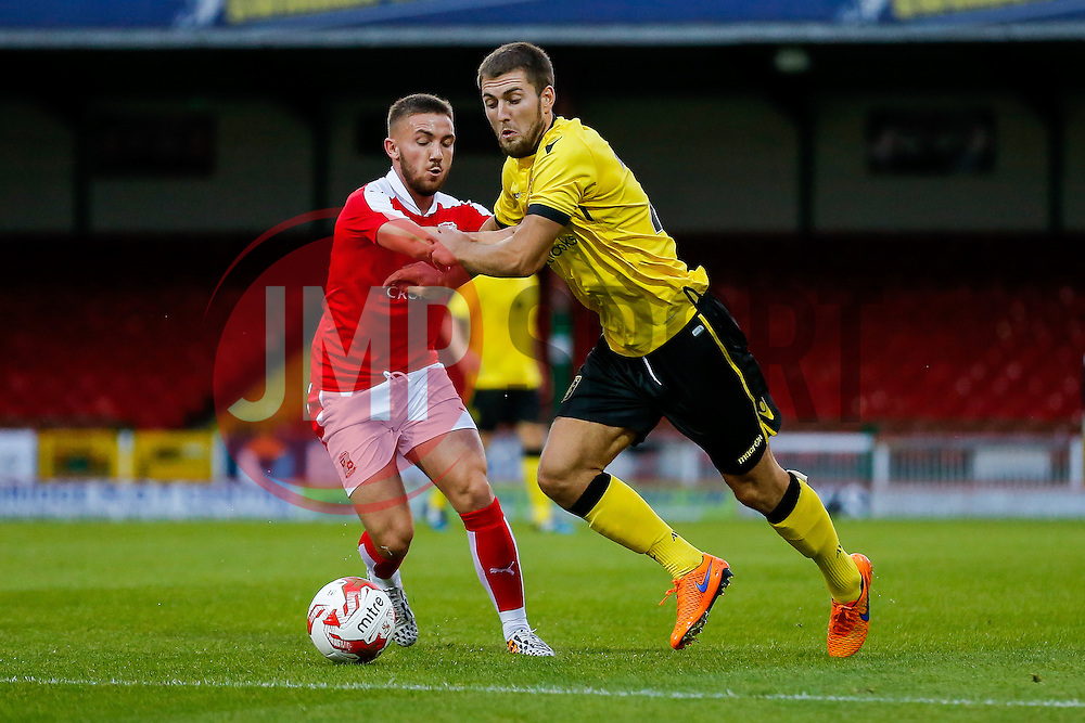 Gary Gardner of Aston Villa in action - Mandatory byline: Rogan Thomson/JMP - 07966 386802 - 21/07/2015 - SPORT - Football - Swindon, England - The County Ground - Swindon Town v Aston Villa - 2015/16 Pre Season Friendly.