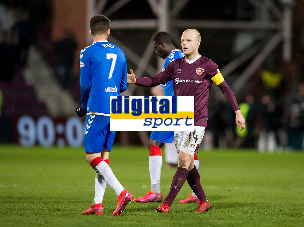 Football - 2019 / 2020 William Hill Scottish Cup - Quarter-Final: Heart of Midlothian vs. Rangers<br /> <br /> Steven Naismith of Hearts at full time, at Tynecastle Park, Edinburgh.<br /> <br /> COLORSPORT/BRUCE WHITE