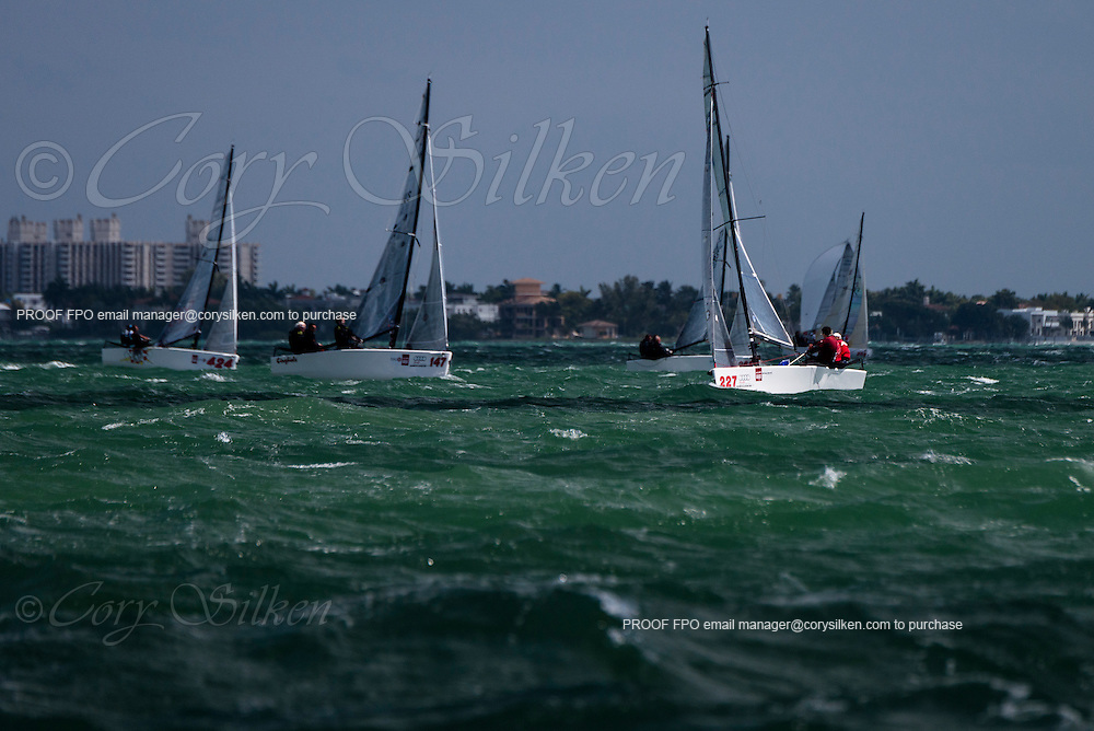 It's All Good, Melges 20 Class, sailing in Bacardi Miami Sailing Week, day five.