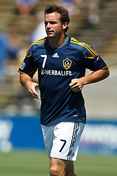 August 21, 2010; Santa Clara, CA, USA;  Los Angeles Galaxy midfielder Chris Klein (7) warms up before the game against the San Jose Earthquakes at Buck Shaw Stadium. San Jose defeated Los Angeles 1-0.