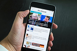 The Telegraph online newspaper app on iPhone 6 Plus smart phone