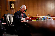 Secretary State Nominee Rex Tillerson Testifies before the Senate Foreign Relations Committee on January 11, 2017<br /> <br /> Photo by Dennis Brack