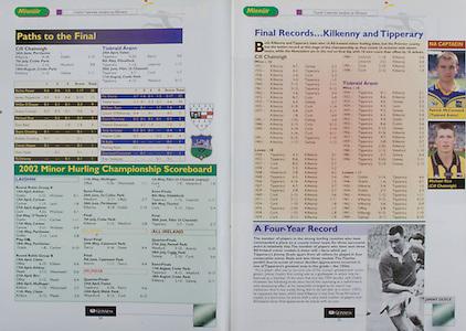 All Ireland Senior Hurling Championship Final,.08.09.2002, 09.08.2002, 8th September 2002,.Senior Kilkenny 2-20, Clare 0-19,.Minor Kilkenny 3-15, Tipperary 1-7,.8092002AISHCF,.