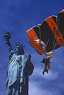 Statue of Liberty & Army Parachute Jumper, New York, New Jersey, Statue of Liberty National Monument, Manhattan An Island in Focus book page 39