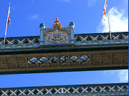 The Tower Bridge across the Thames River in London UK.<br /> Photo by Dennis Brack