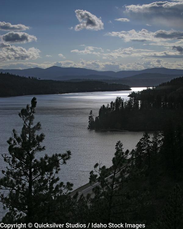 Idaho, Coeur dAlene, Lake, Looking West