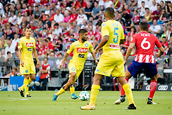 August 1, 2017 - Munich, Germany - Lorenzo Insigne of Napoli in action during the Audi Cup 2017 match between Club Atletico de Madrid and SSC Napoli at Allianz Arena on August 1, 2017 in Munich, Germany. (Credit Image: © Paolo Manzo/NurPhoto via ZUMA Press)