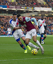 Dwight McNeil of Burnley and Martin Kelly of Crystal Palace (L) in action - Mandatory by-line: Jack Phillips/JMP - 30/11/2019 - FOOTBALL - Turf Moor - Burnley, England - Burnley v Crystal Palace - English Premier League