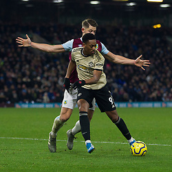 Anthony Martial of Manchester United and James Tarkowski of Burnley (Top) in action - Mandatory by-line: Jack Phillips/JMP - 28/12/2019 - FOOTBALL - Turf Moor - Burnley, England - Burnley v Manchester United - English Premier League
