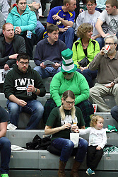 21 February 2015:  Titan fans during an NCAA women's division 3 CCIW basketball game between the Elmhurst Bluejays and the Illinois Wesleyan Titans in Shirk Center, Bloomington IL