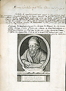 Euclid (fl295BC) Greek mathematician (geometry). Copperplate engraving of 1740.