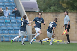 Southend United's Luke Prosser celebrates after scoring a goal  - Photo mandatory by-line: Nigel Pitts-Drake/JMP - Tel: Mobile: 07966 386802 05/10/2013 - SPORT - FOOTBALL - Kassam Stadium - Oxford - Oxford United v Southend United - Sky Bet League 2
