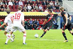 09.09.2011, SGL Arena, Augsburg, GER, 1.FBL, FC Augsburg vs. Bayer 04 Leverkusen, im Bild  Torschuss zum 1-3 durch Renato Augusto (Leverkusen #10) // during the FC Augsburg vs. Bayer Leverkusen , on 2011/09/09, SGL Arena, Augsburg, Germany, EXPA Pictures © 2011, PhotoCredit: EXPA/ nph/  Straubmeier       ****** out of GER / CRO  / BEL ******