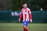 Dorking Wanderers Anthony Oaks during the Ryman League - Div One South match between Dorking Wanderers and Lewes FC at Westhumble Playing Fields, Dorking, United Kingdom on 28 January 2017. Photo by Jon Bromley.