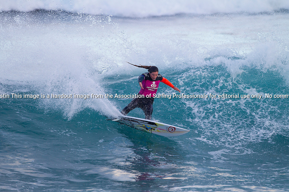 Tyler Wright of Lennox Head, NSW, Australia (pictured) advanced into the Quarterfinals of the Rip Curl Pro Bells Beach winning her Round 3 heat on Sunday April 20, 2014. Wright defeated Lakey Peterson and Laura Enever with a pair of excellent 8-point rides.
