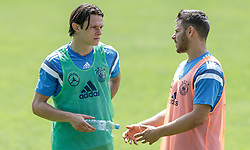 03.06.2015, Steinbergstadion, Leogang, AUT, U 21 EM, Vorbereitung Deutschland, im Bild v.l.: Nico Schulz (Hertha BSC, Deutschland U21) und Kevin Volland (1899 Hoffenheim, Deutschland U21) // during Trainingscamp of Team Germany for Preparation of the UEFA European Under 21 Championship at the Steinbergstadium in Leogang, Austria on 2015/06/03. EXPA Pictures © 2015, PhotoCredit: EXPA/ JFK