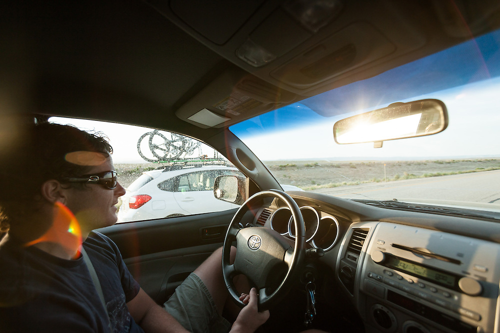 Driving to our campgrounds destination. Photographed by Lifestyle photographer Nathan Lindstrom