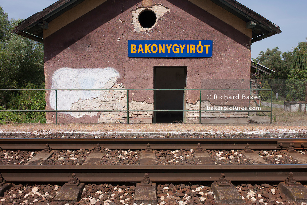 Rural station in the village of Bakonygyirot, Gyor-Moson-Sopron, Hungary