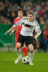 MONCHENGLADBACH, GERMANY - Wednesday, October 15, 2008: Germany's Bastian Schweinsteiger during the 2010 FIFA World Cup South Africa Qualifying Group 4 match against Wales at the Borussia-Park Stadium. (Photo by David Rawcliffe/Propaganda)
