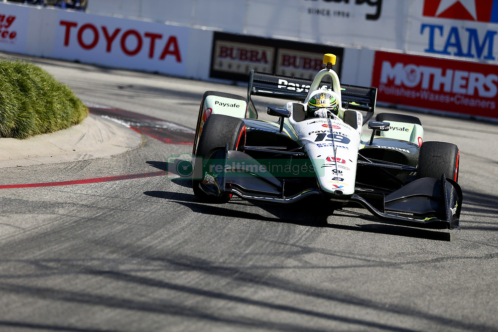 April 13, 2018 - Long Beach, California, United States of America - April 13, 2018 - Long Beach, California, USA: Zachary Claman De Melo (19) takes to the track to practice for the Toyota Grand Prix of Long Beach at Streets of Long Beach in Long Beach, California. (Credit Image: © Justin R. Noe Asp Inc/ASP via ZUMA Wire)