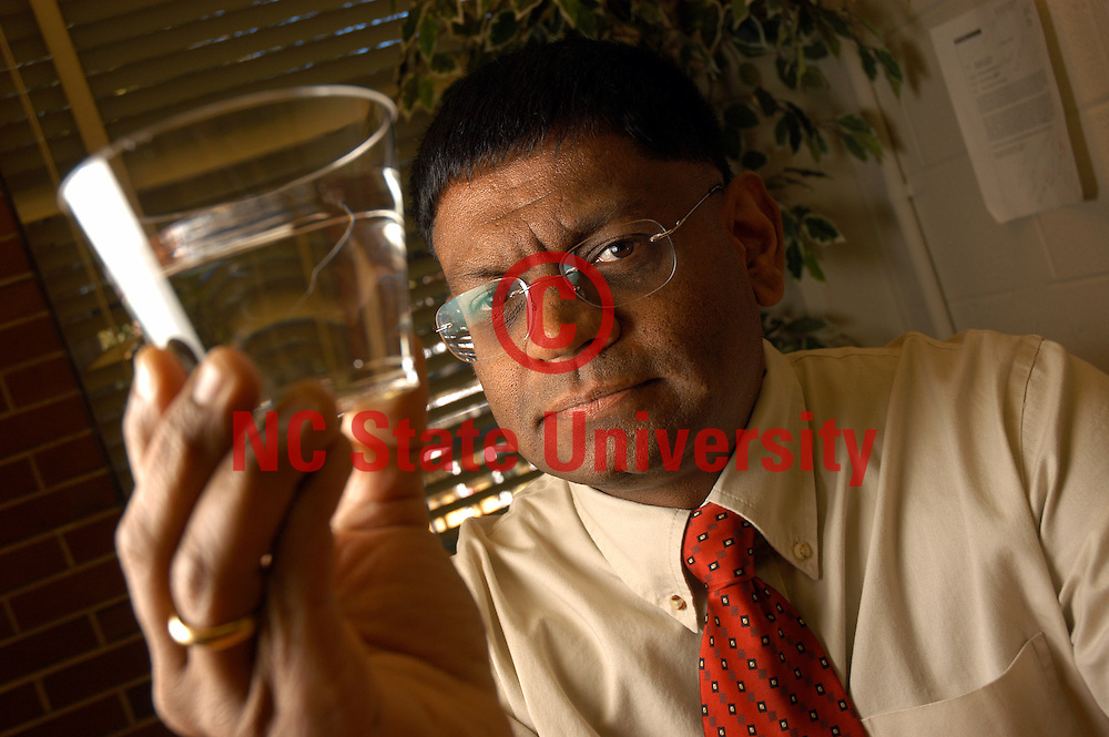 Dr. Kumar Mahinthakumar has developed a computer model to trace underground water contamination.    PHOTO BY ROGER WINSTEAD