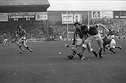 05/09/1982<br /> 09/05/1982<br /> 5 September 1982<br /> All-Ireland Hurling Final: Cork v Kilkenny at Croke Park, Dublin. <br /> Christy Heffernan, Kilkenny center-forward, joins the frey; but he is stopped by Martin O'Doherty (Cork).